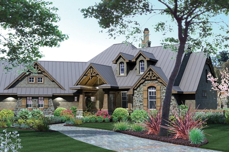 Country Exterior - Front Elevation Plan #120-243 - Houseplans.com
