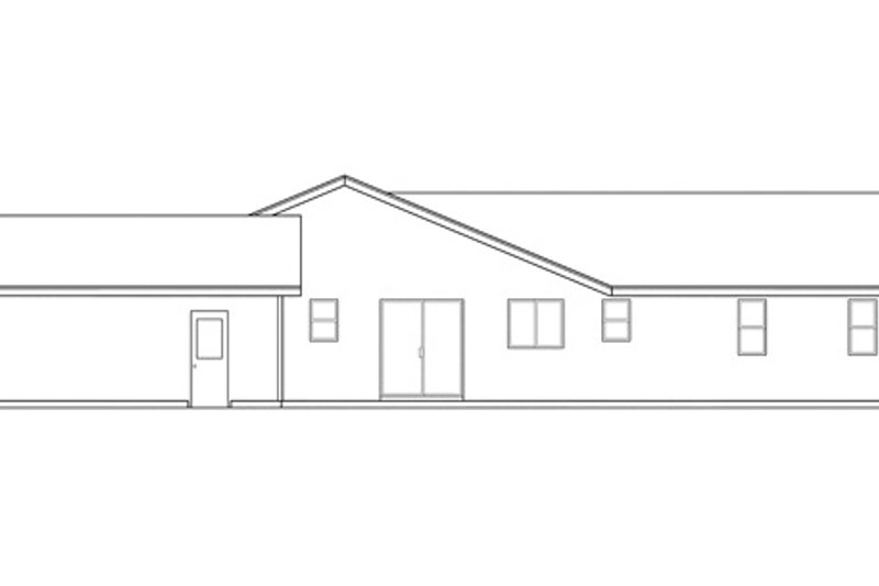 Ranch Exterior - Other Elevation Plan #124-303 - Houseplans.com