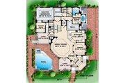 Beach Style House Plan - 4 Beds 4.5 Baths 6828 Sq/Ft Plan #27-567 Floor Plan - Main Floor Plan