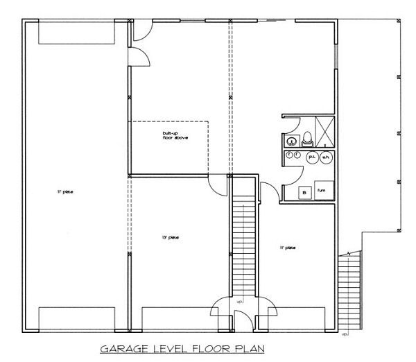Traditional Floor Plan - Lower Floor Plan Plan #117-538