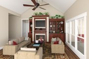 Craftsman Style House Plan - 3 Beds 2 Baths 1816 Sq/Ft Plan #21-303 Interior - Family Room
