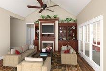 Craftsman Interior - Family Room Plan #21-303