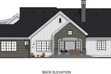 Farmhouse Exterior - Rear Elevation Plan #1069-18