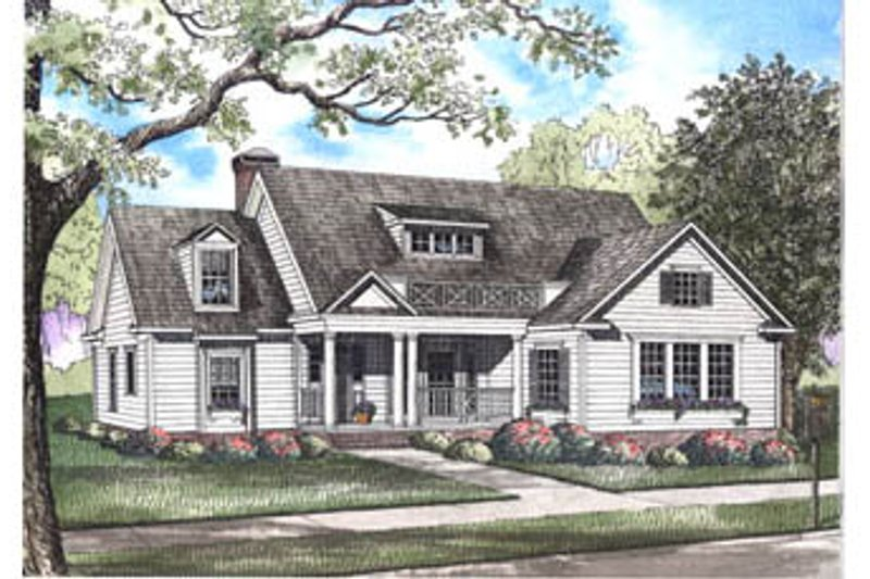 House Plan Design - Country Exterior - Front Elevation Plan #17-2067