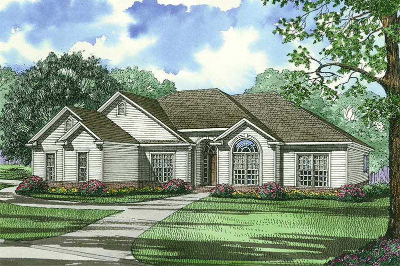 Ranch Exterior - Front Elevation Plan #17-3149