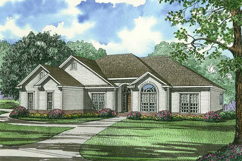 Dream House Plan - Ranch Exterior - Front Elevation Plan #17-3149