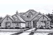 European Style House Plan - 4 Beds 3 Baths 2688 Sq/Ft Plan #310-860 Exterior - Front Elevation