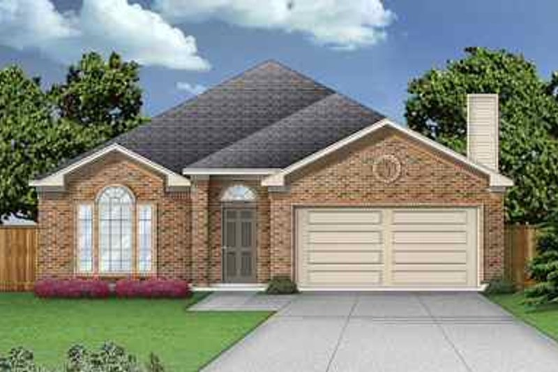 Traditional Exterior - Front Elevation Plan #84-125 - Houseplans.com