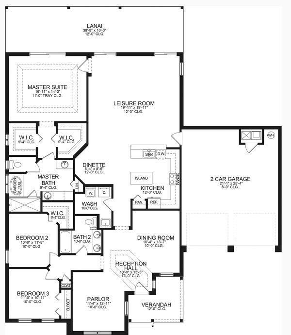 Home Plan - Ranch Floor Plan - Main Floor Plan #1058-189