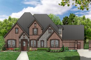 European Exterior - Front Elevation Plan #84-463