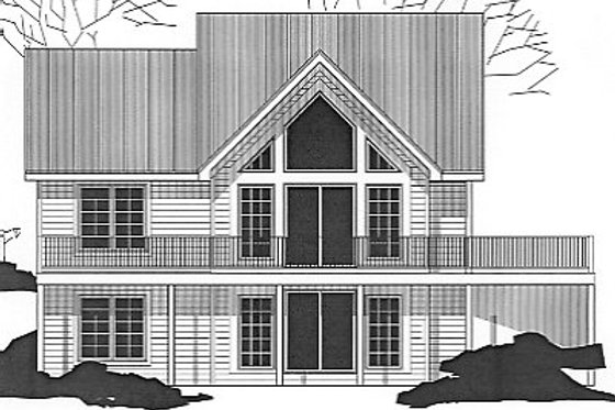 Exterior - Front Elevation Plan #67-629