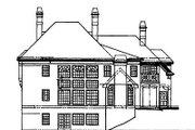 European Style House Plan - 5 Beds 4 Baths 3497 Sq/Ft Plan #119-250 Exterior - Rear Elevation