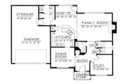 Traditional Style House Plan - 4 Beds 2.5 Baths 2019 Sq/Ft Plan #20-2144 Floor Plan - Main Floor