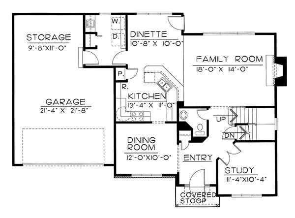 Traditional Floor Plan - Main Floor Plan #20-2144
