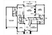 European Style House Plan - 4 Beds 3.5 Baths 3597 Sq/Ft Plan #449-4 Floor Plan - Main Floor Plan