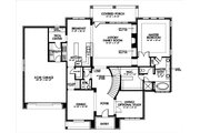 European Style House Plan - 4 Beds 3.5 Baths 3597 Sq/Ft Plan #449-4 Floor Plan - Main Floor