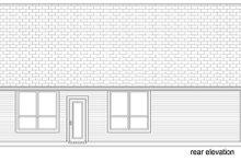 House Design - Craftsman Exterior - Rear Elevation Plan #84-526