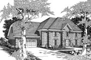 European Style House Plan - 4 Beds 2.5 Baths 2640 Sq/Ft Plan #329-122 Exterior - Front Elevation