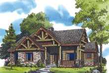 Country Exterior - Front Elevation Plan #942-27