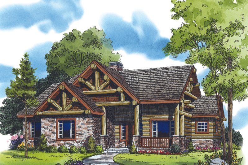 Country Exterior - Front Elevation Plan #942-27 - Houseplans.com