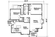 Cottage Style House Plan - 2 Beds 1 Baths 1197 Sq/Ft Plan #22-573 Floor Plan - Main Floor Plan