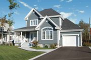 Country Style House Plan - 3 Beds 2 Baths 1432 Sq/Ft Plan #23-2346 Exterior - Front Elevation