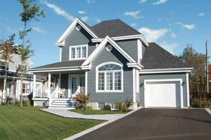 Country Exterior - Front Elevation Plan #23-2346