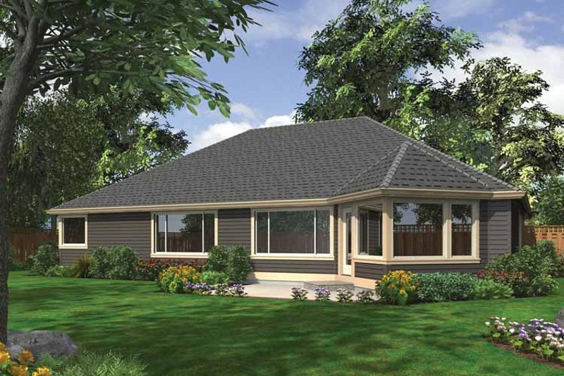 Ranch Exterior - Rear Elevation Plan #132-544 - Houseplans.com