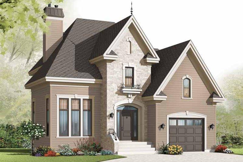 House Plan Design - European Exterior - Front Elevation Plan #23-2539