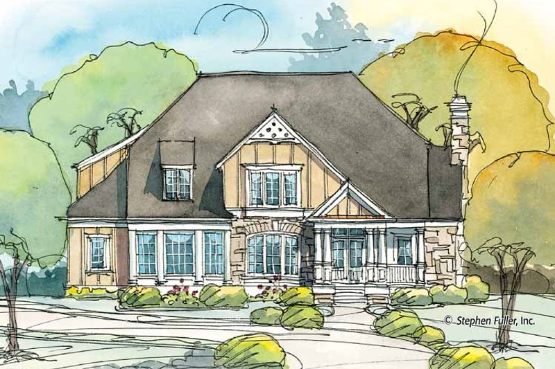 Country Exterior - Front Elevation Plan #429-374 - Houseplans.com