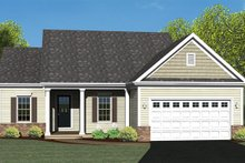 Ranch Exterior - Front Elevation Plan #1010-3