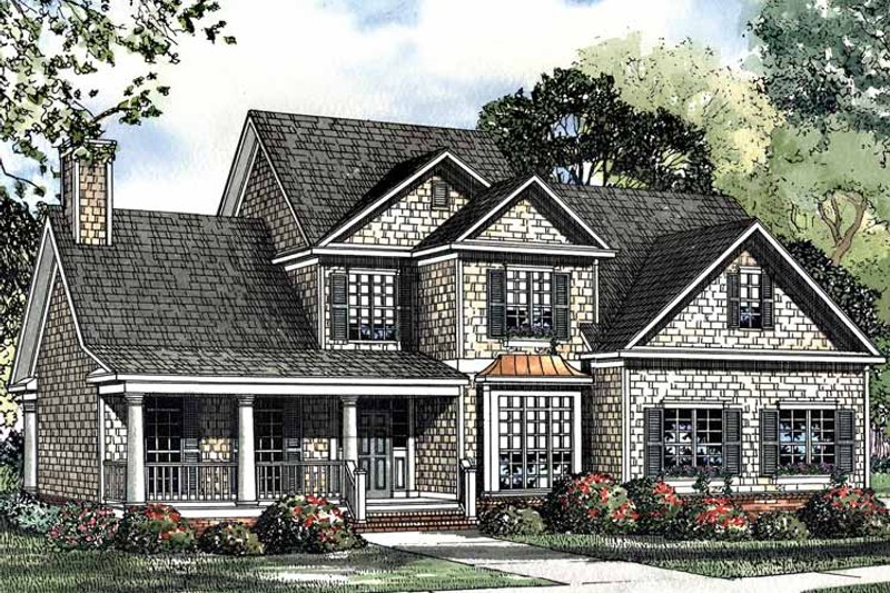 Country Exterior - Front Elevation Plan #17-3116 - Houseplans.com