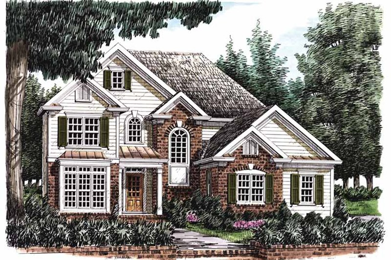 House Plan Design - Traditional Exterior - Front Elevation Plan #927-652
