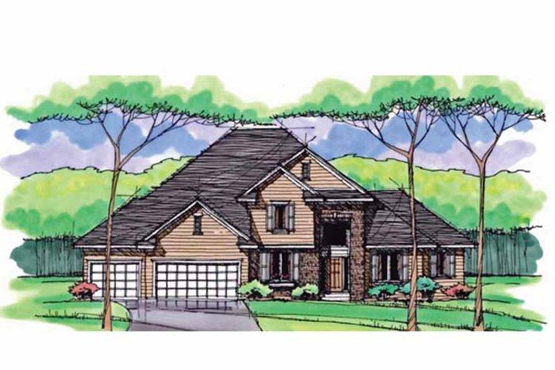 Colonial Exterior - Front Elevation Plan #51-1038 - Houseplans.com
