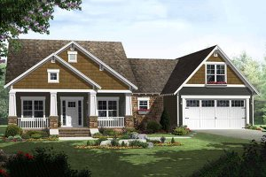 Craftsman Exterior - Front Elevation Plan #21-303