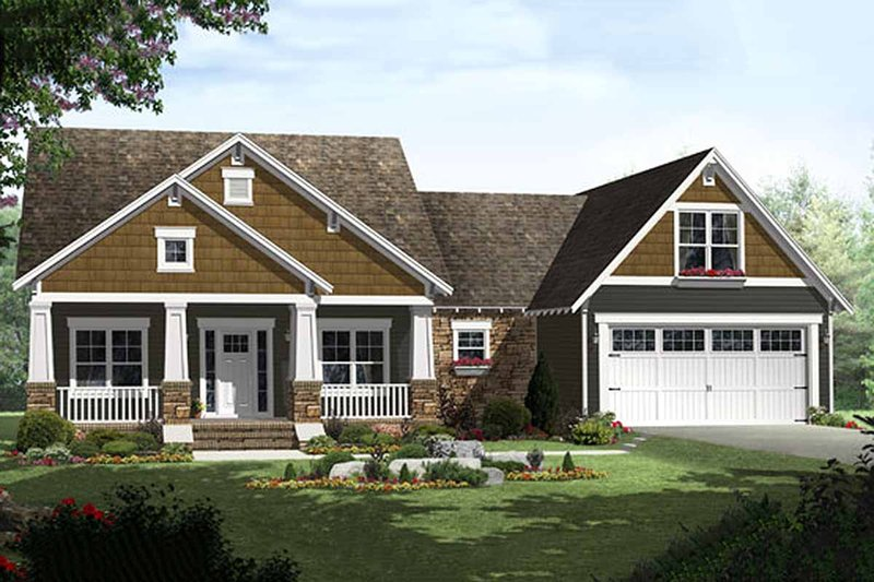 Dream House Plan - Craftsman Exterior - Front Elevation Plan #21-303