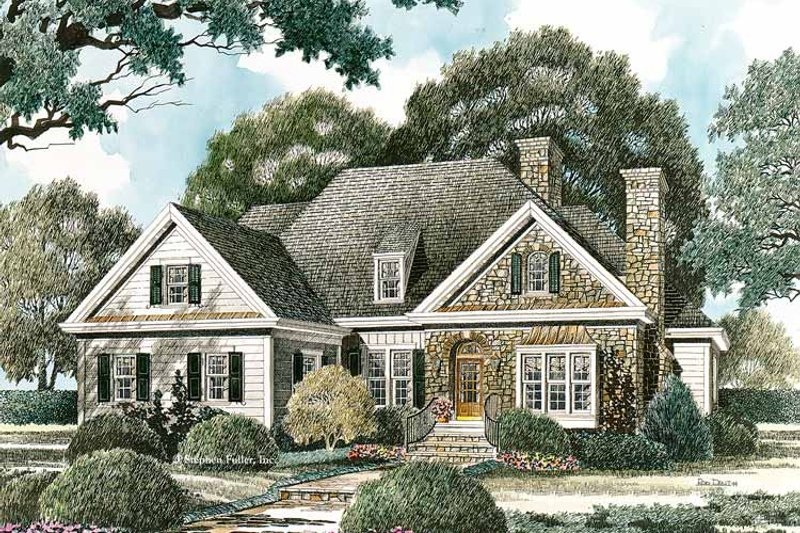 Country Exterior - Front Elevation Plan #429-332