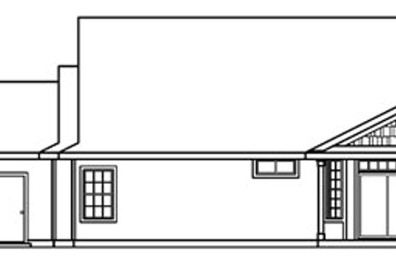Craftsman Exterior - Rear Elevation Plan #124-387 - Houseplans.com