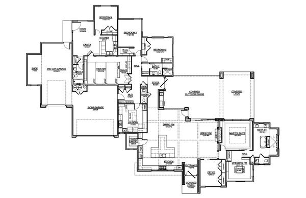 House Plan Design - Southern Floor Plan - Main Floor Plan #1073-24