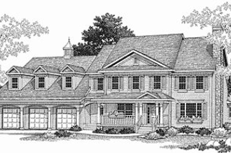 Colonial Exterior - Front Elevation Plan #70-430 - Houseplans.com