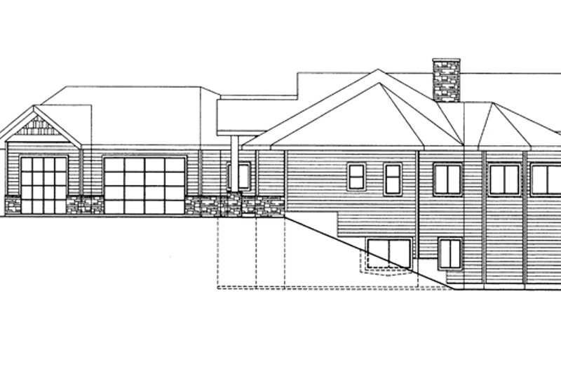 Ranch Exterior - Other Elevation Plan #117-861 - Houseplans.com