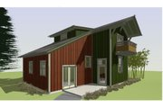 Cottage Style House Plan - 3 Beds 2.5 Baths 1492 Sq/Ft Plan #450-1 Exterior - Other Elevation