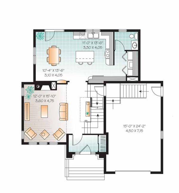 European Floor Plan - Main Floor Plan Plan #23-2539