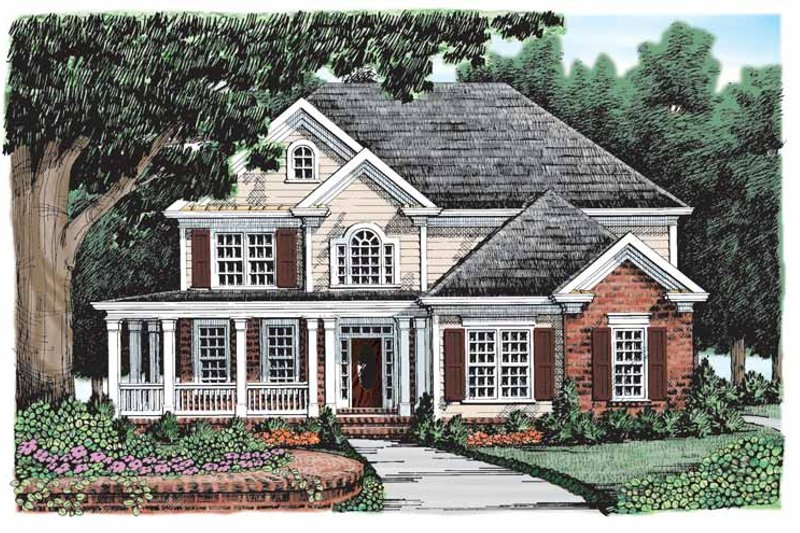 Country Exterior - Front Elevation Plan #927-898 - Houseplans.com