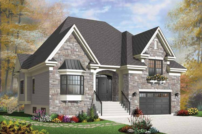 House Plan Design - European Exterior - Front Elevation Plan #23-2541
