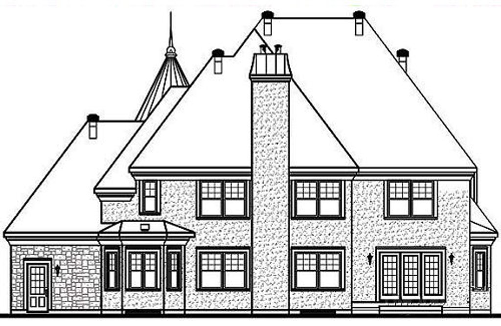 European style house plan 3 beds 2 5 baths 3899 sq ft for Cost to build a 576 sq ft house