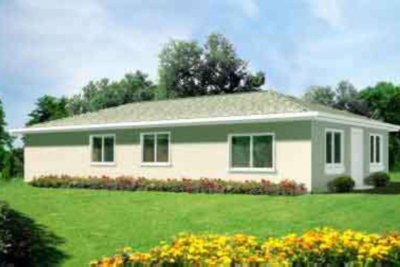 Adobe / Southwestern Style House Plan - 4 Beds 2 Baths 1326 Sq/Ft Plan #1-1183