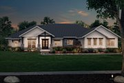 Ranch Style House Plan - 3 Beds 3.5 Baths 2974 Sq/Ft Plan #430-242 Exterior - Front Elevation