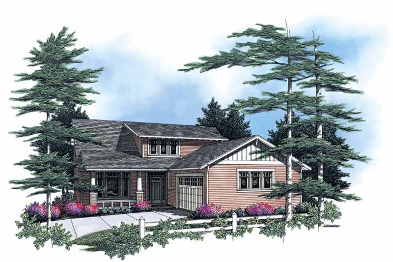 Craftsman Exterior - Front Elevation Plan #48-764
