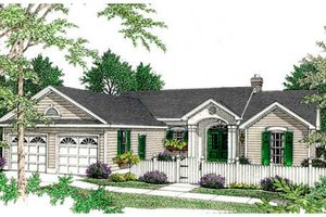 Traditional style house plan 3 beds 2 baths 1499 sq ft for Homeplans com reviews